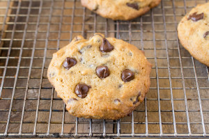Peanut butter chocolate chip cookies. There's no better sweet treat than a warm, fresh out of the oven cookie. These peanut butter chocolate chips cookies can be in your hands in 20 minutes.