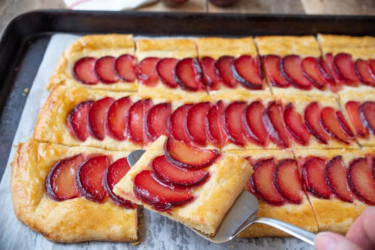 Plum Tart with Cornmeal Crust