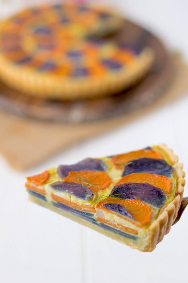 A slice of quiche