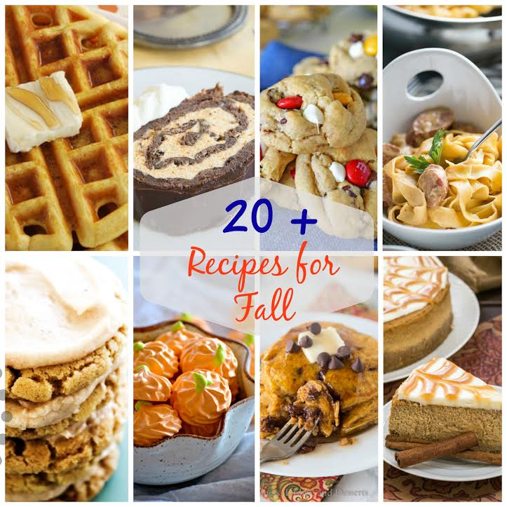 Recipe roundup for fall is a delicious collection of many recipes for the season.