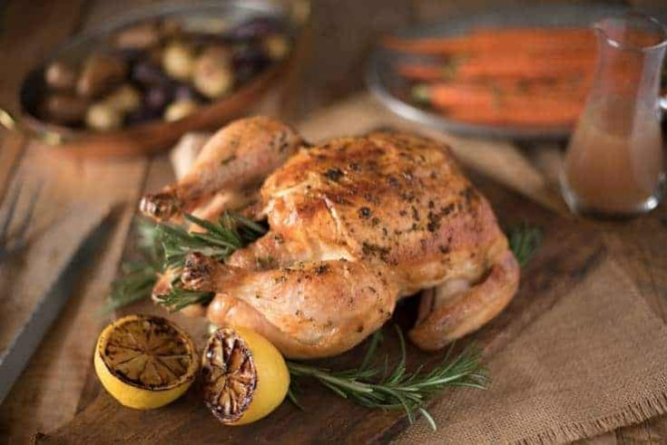 Rosemary Roasted Chicken with Delicious Gravy
