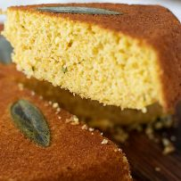 A slice of sage cornbread