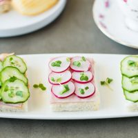 Selection of tea sandwiches