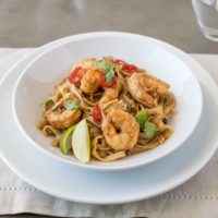 Shrimp pad Thai with easy tips for the non cook