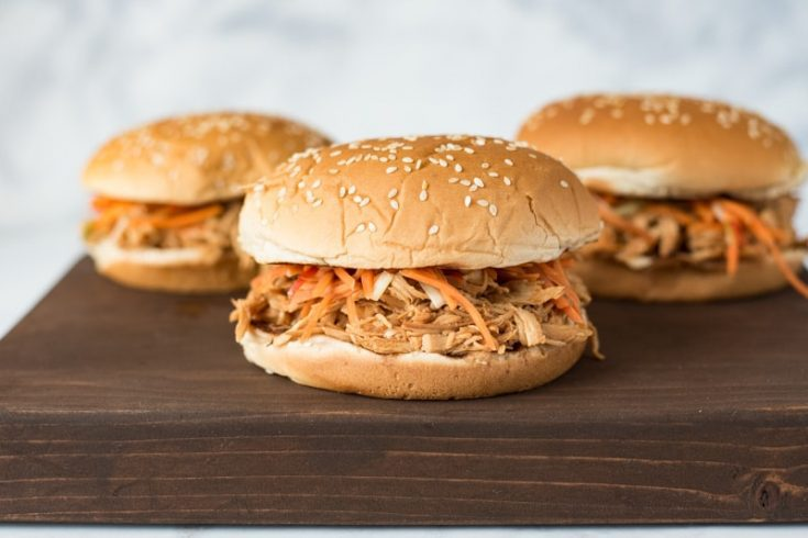 3 Slow cooker Asian chicken sandwiches