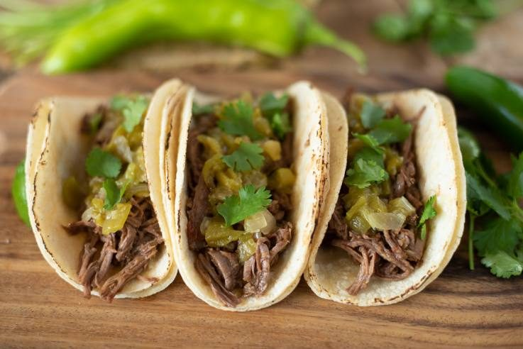3 beef tacos ready to eat