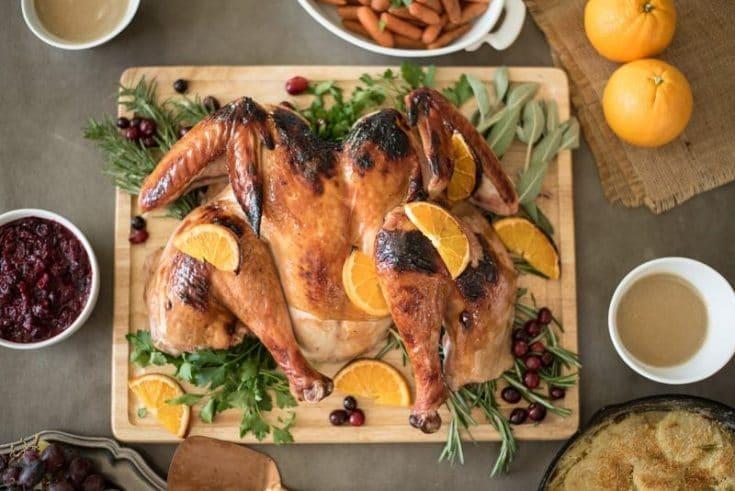 Spatchcock Cranberry Orange Glazed Turkey