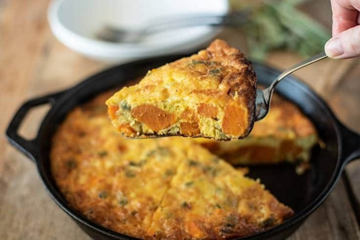 Sweet Potato and Sage Frittata