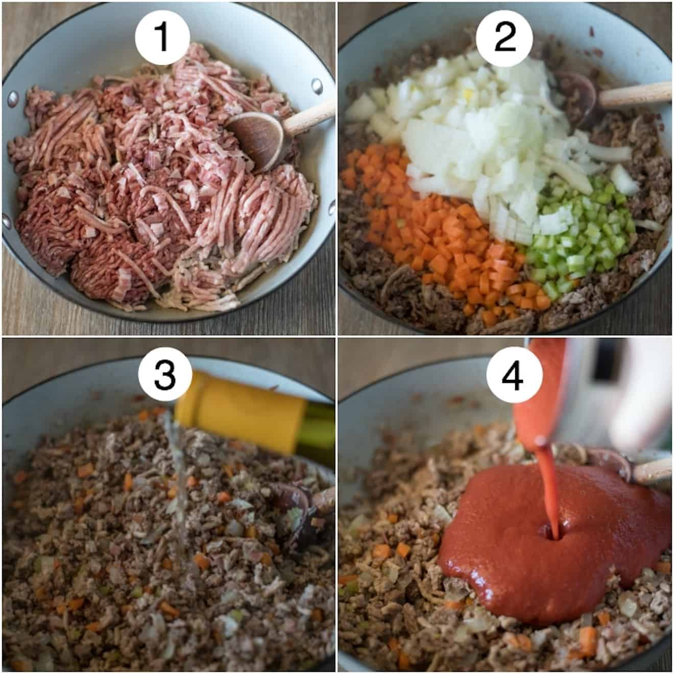 The 4 steps to making Traditional Bolognese Sauce