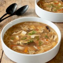 2 bowls of Vegetarian Chinese Hot and Sour Soup