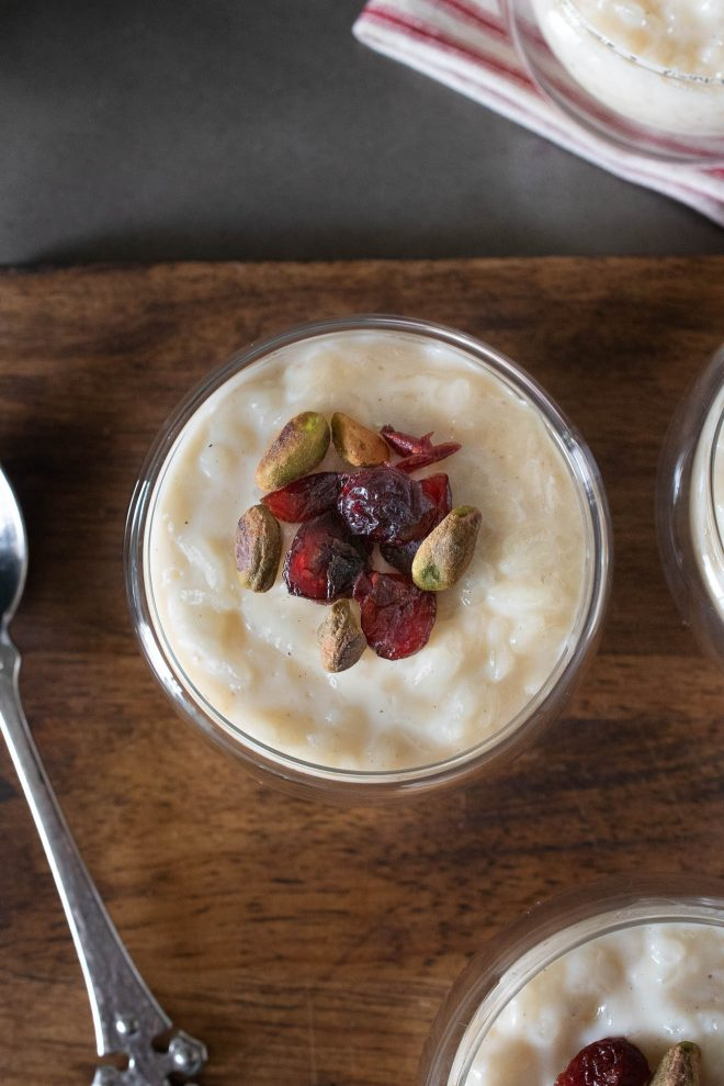 Dried cranberries and toasted pistachios are a delicious garnish