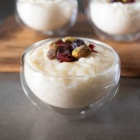 Perfectly creamy rice pudding